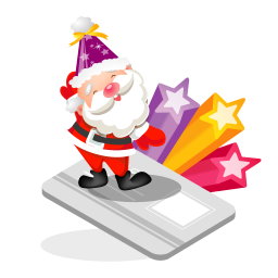 256x256px size png icon of santa creditcard