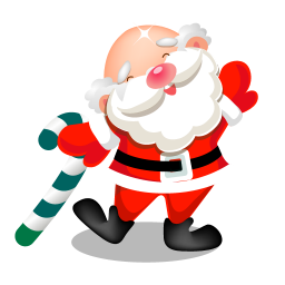 256x256px size png icon of santa dancing