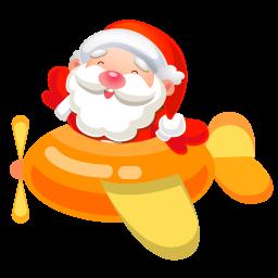 256x256px size png icon of santa plane 2