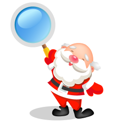256x256px size png icon of santa search