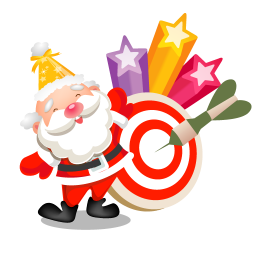 256x256px size png icon of santa stars