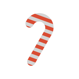 256x256px size png icon of candy cane