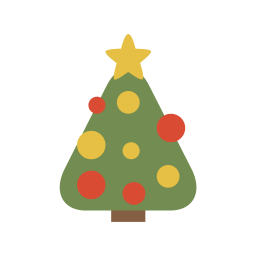 256x256px size png icon of christmas tree