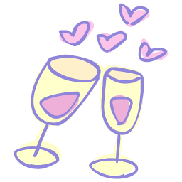 256x256px size png icon of drink cheers