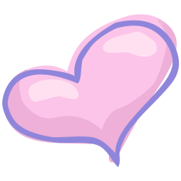 256x256px size png icon of heart love