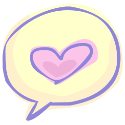 256x256px size png icon of love chat