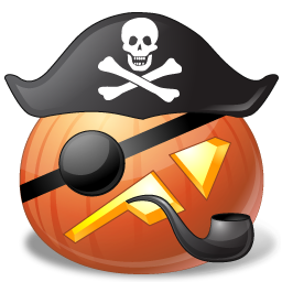 256x256px size png icon of pirate captain