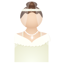 256x256px size png icon of bride