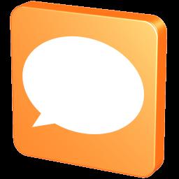 256x256px size png icon of Forum Orange
