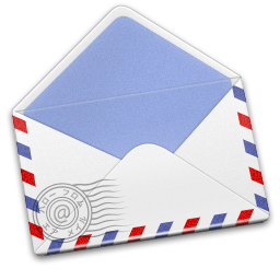 256x256px size png icon of AirMail Stamp