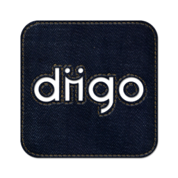 256x256px size png icon of Diigo square