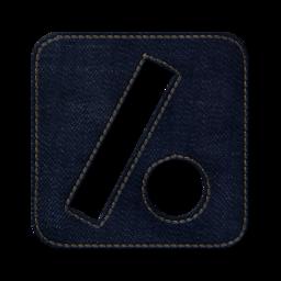 256x256px size png icon of Slash dot square