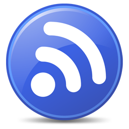 256x256px size png icon of Feeds Blue