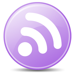 256x256px size png icon of Feeds Lilac