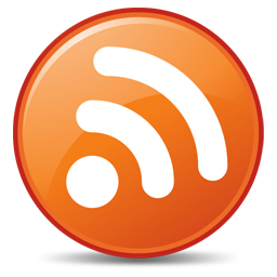 256x256px size png icon of Feeds Orange
