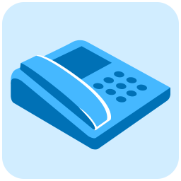 256x256px size png icon of telephone