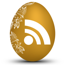 256x256px size png icon of rss white