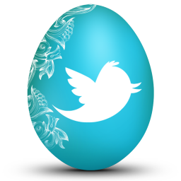 256x256px size png icon of twitter white