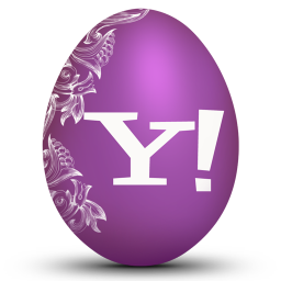 256x256px size png icon of yahoo white