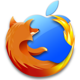 256x256px size png icon of Firefox Mac