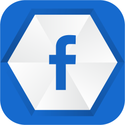 256x256px size png icon of facebook