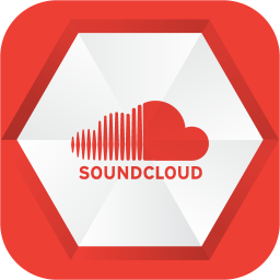 256x256px size png icon of soundcloud