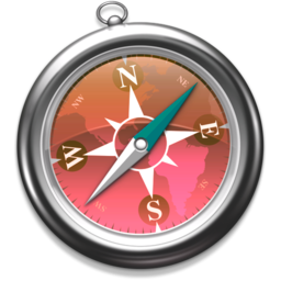 256x256px size png icon of Safari roze