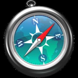 256x256px size png icon of Safari zeeblauw