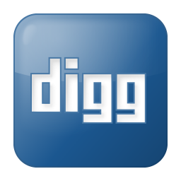 256x256px size png icon of social digg box blue