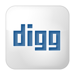 256x256px size png icon of social digg box white