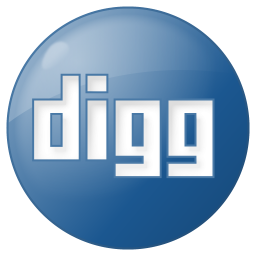 256x256px size png icon of social digg button blue