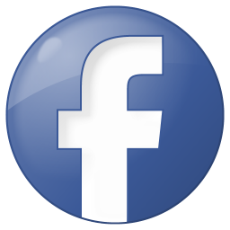 256x256px size png icon of social facebook button blue