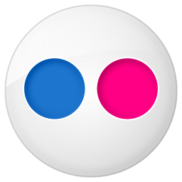 256x256px size png icon of social flickr button