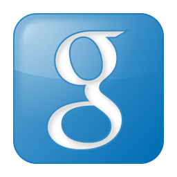 256x256px size png icon of social google box blue