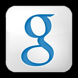 256x256px size png icon of social google box white