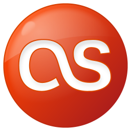 256x256px size png icon of social lastfm button red