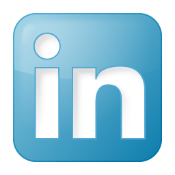 256x256px size png icon of social linkedin box blue