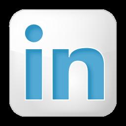 256x256px size png icon of social linkedin box white