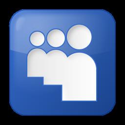 256x256px size png icon of social myspace box blue
