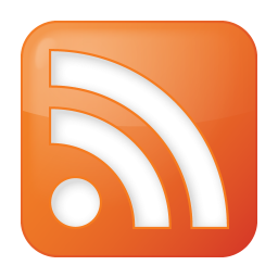 256x256px size png icon of social rss box orange