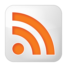 256x256px size png icon of social rss box white