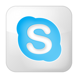 256x256px size png icon of social skype box white