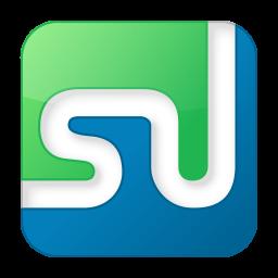 256x256px size png icon of social stumbleupon box color
