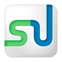 256x256px size png icon of social stumbleupon box white