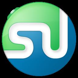 256x256px size png icon of social stumbleupon button color