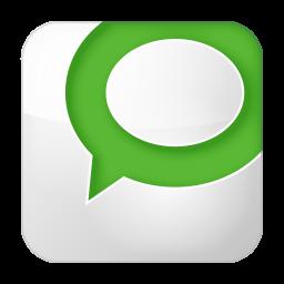 256x256px size png icon of social technorati box white