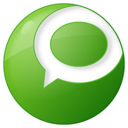 256x256px size png icon of social technorati button green