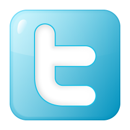 256x256px size png icon of social twitter box blue