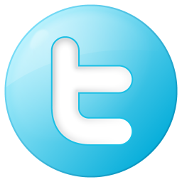 256x256px size png icon of social twitter button blue