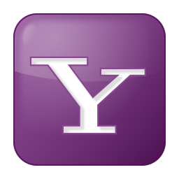 256x256px size png icon of social yahoo box lilac